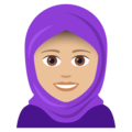 Woman With Headscarf: Medium-Light Skin Tone on JoyPixels 5.0