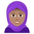 Woman With Headscarf: Medium Skin Tone on JoyPixels 5.0