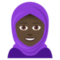Woman With Headscarf: Dark Skin Tone on JoyPixels 5.0