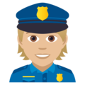 Police Officer: Medium-Light Skin Tone on JoyPixels 5.0