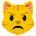 Pouting Cat Face on JoyPixels 5.0