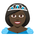 Princess: Dark Skin Tone on JoyPixels 5.0