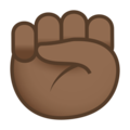 Raised Fist: Medium-Dark Skin Tone on JoyPixels 5.0
