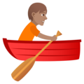 Person Rowing Boat: Medium Skin Tone on JoyPixels 5.0