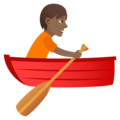 Person Rowing Boat: Medium-Dark Skin Tone on JoyPixels 5.0
