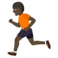 Person Running: Dark Skin Tone on JoyPixels 5.0