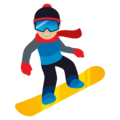 Snowboarder: Medium-Light Skin Tone on JoyPixels 5.0