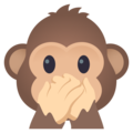 Speak-No-Evil Monkey on JoyPixels 5.0