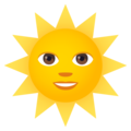 Sun With Face on JoyPixels 5.0