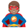 Superhero: Medium Skin Tone on JoyPixels 5.0
