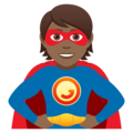 Superhero: Medium-Dark Skin Tone on JoyPixels 5.0