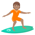 Person Surfing: Medium Skin Tone on JoyPixels 5.0