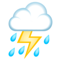 Cloud With Lightning and Rain on JoyPixels 5.0