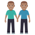 Men Holding Hands: Medium Skin Tone on JoyPixels 5.0