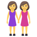 Women Holding Hands on JoyPixels 5.0