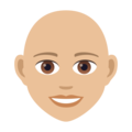 Woman: Medium-Light Skin Tone, Bald on JoyPixels 5.0