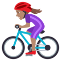 Woman Biking: Medium Skin Tone on JoyPixels 5.0