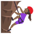 Woman Climbing: Medium-Dark Skin Tone on JoyPixels 5.0