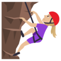 Woman Climbing: Medium-Light Skin Tone on JoyPixels 5.0