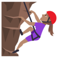 Woman Climbing: Medium Skin Tone on JoyPixels 5.0