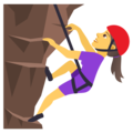 Woman Climbing on JoyPixels 5.0