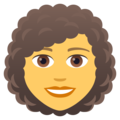 Woman: Curly Hair on JoyPixels 5.0