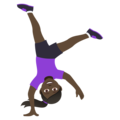 Woman Cartwheeling: Dark Skin Tone on JoyPixels 5.0
