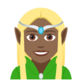 Woman Elf: Medium-Dark Skin Tone on JoyPixels 5.0