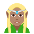 Woman Elf: Medium Skin Tone on JoyPixels 5.0