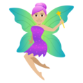 Woman Fairy: Medium-Light Skin Tone on JoyPixels 5.0