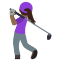 Woman Golfing: Medium-Dark Skin Tone on JoyPixels 5.0