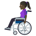 Woman in Manual Wheelchair: Dark Skin Tone on JoyPixels 5.0