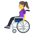 Woman in Manual Wheelchair on JoyPixels 5.0