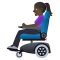 Woman in Motorized Wheelchair: Dark Skin Tone on JoyPixels 5.0
