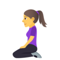 Woman Kneeling on JoyPixels 5.0