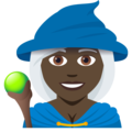 Woman Mage: Dark Skin Tone on JoyPixels 5.0