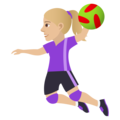 Woman Playing Handball: Medium-Light Skin Tone on JoyPixels 5.0