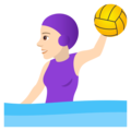 Woman Playing Water Polo: Light Skin Tone on JoyPixels 5.0
