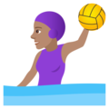 Woman Playing Water Polo: Medium Skin Tone on JoyPixels 5.0