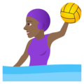 Woman Playing Water Polo: Medium-Dark Skin Tone on JoyPixels 5.0