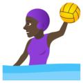 Woman Playing Water Polo: Dark Skin Tone on JoyPixels 5.0