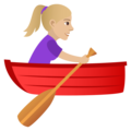 Woman Rowing Boat: Medium-Light Skin Tone on JoyPixels 5.0