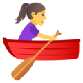 Woman Rowing Boat on JoyPixels 5.0