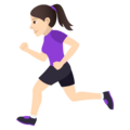 Woman Running: Light Skin Tone on JoyPixels 5.0