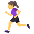 Woman Running on JoyPixels 5.0
