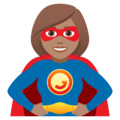 Woman Superhero: Medium Skin Tone on JoyPixels 5.0