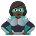 Woman Supervillain: Dark Skin Tone on JoyPixels 5.0
