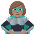 Woman Supervillain: Medium Skin Tone on JoyPixels 5.0