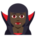 Woman Vampire: Dark Skin Tone on JoyPixels 5.0