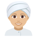 Woman Wearing Turban: Medium-Light Skin Tone on JoyPixels 5.0